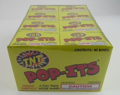 1 Case Of 40 Boxes Of 50 TNT Pop-Its Snappers Noise Makers