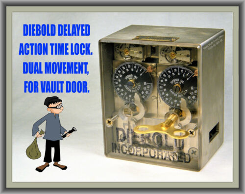 DIEBOLD: DELAYED ACTION TIME LOCK / DUAL SWISS MOVEMENTS / UL LISTED VAULT LOCK