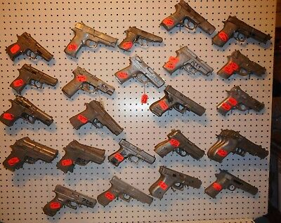 DECORATIVE SOLID CAST ALUMINUM  AUTO PISTOL REPLICAS PROPS  SIG SW RUGER CHOICE