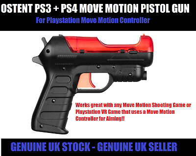 OSTENT Playstation VR Gun Controller Attachment - PS3 PS4 Move Motion Pistol...
