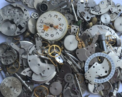 Steampunk Vintage Wristwatch/clock parts of 100 Grams #WWP001