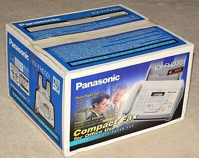 Panasonic Kx-fhd301 Compact Plain Paper Fax Copier And Telephone System New