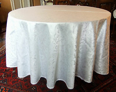 Round tablecloth party diameter 220 cm lamé silver