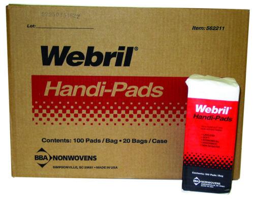 Webril Handi Pads 4 x 4 Wipes (2000 Wipe Case)