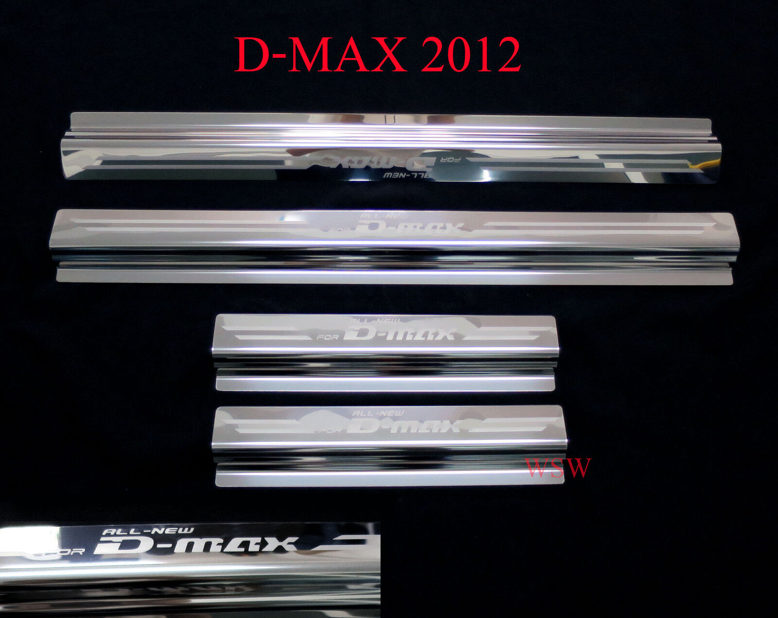 New 4 doors sill scuff plate for isuzu d max dmax year 2012 holden rodeo
