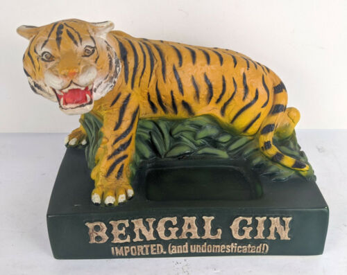 Bengal Gin Vintage Molded Plastic Tiger Bottle Display