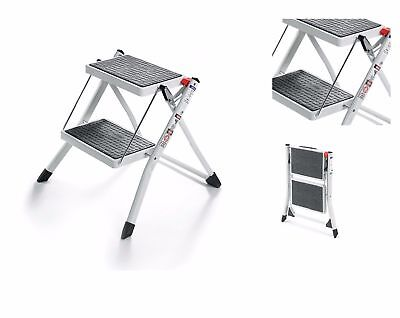 POLDER 2 STEP FOLDING MINI STOOL LADDER NON-SKID STEPPING COMPACT SPACE SAVINg