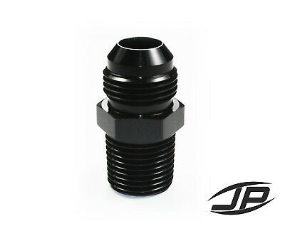 Straight Adapter 10 AN to 1/2 NPT Fitting Black HIGH QUALITY!