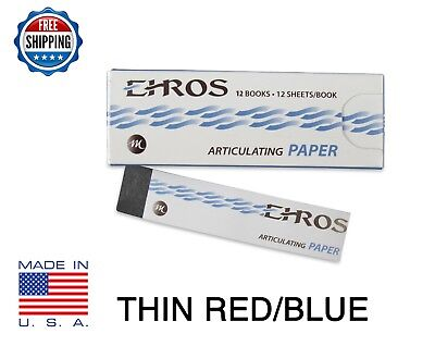 Dental Articulating Paper Thin 0.003 Redblue 144 Sheets Made In Usa