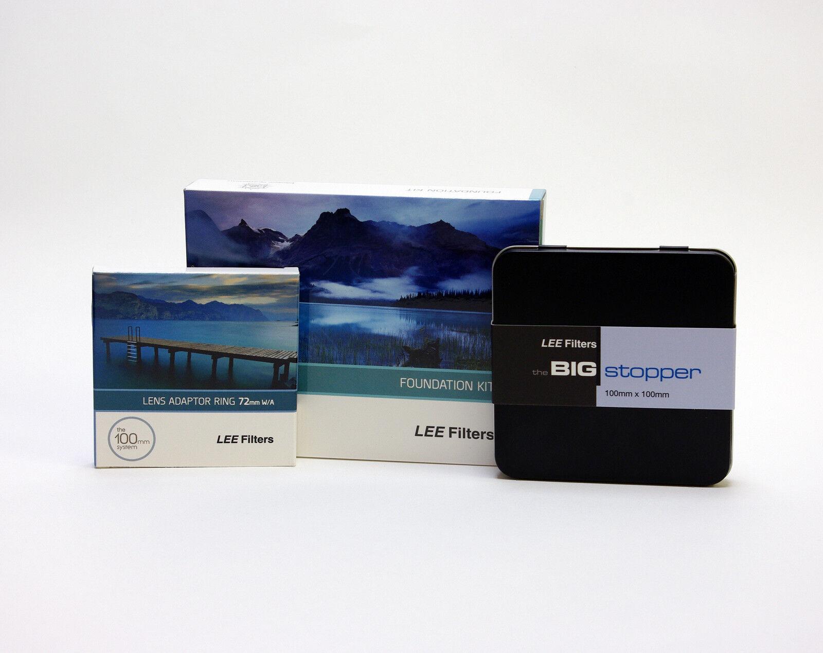 Details about Lee Filters Foundation Holder Kit + Lee Big Stopper & Lee  72mm Wide Ring  New
