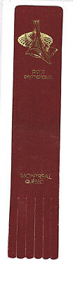 Leather Bookmark Montreal Quebec Canada Parc Olympique Olympic Park Souvenir