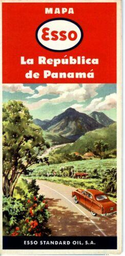 1953 Esso Road Map: Panama NOS