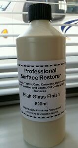 Surface Restorer Polish, Caravan Motorhome Car GRP, Removes black marks/stripes.