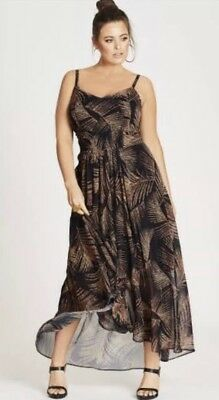 City Chic Sz L/20 Party Time Maxi Dress