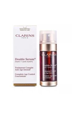 Clarins Double Serum Complete Age Control Concentrate 1 6 Oz  New