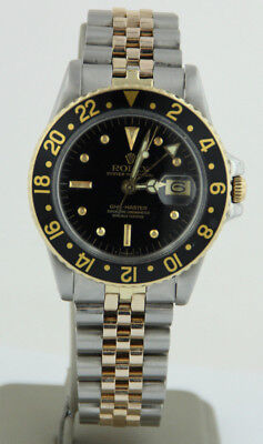 1978 Rolex GMT-Master 1675 Nipple Dial Two-Tone 18KT Men's Wristwatch