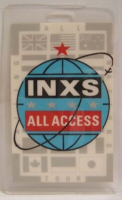 Inxs   Michael Hutchence   Original Concert Tour Laminate Backstage Pass