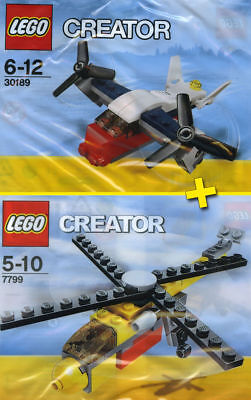 LEGO CREATOR #7799 + #30189 - Transport Plane + Cargo Copter - 100% NEW / NEUF