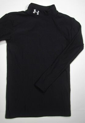 UNDER ARMOUR ~ Cold Gear Mock Turtle Neck Shirt ~ Youth Large - Black
