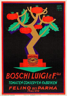 Boschi Tomato Sauce 1926 Italian Food Advertising Giclee Canvas Print 20x28