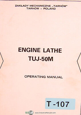 Toolmex Tarnow Tuj-50m Polamco Lathe Operations Manual