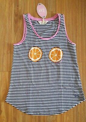 PETER ALEXANDER PJS Womens Orange Tank Top Size Small BNWT Sleep PJ Cotton