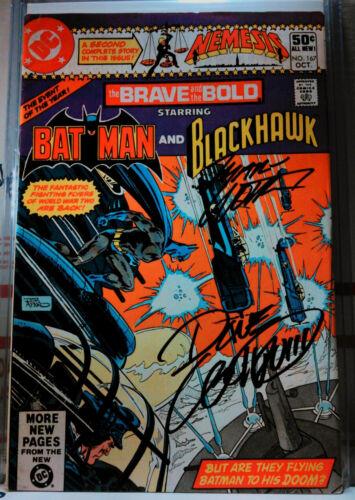 SIGNED! BRAVE & THE BOLD #167 MARV WOLFMAN + DAVE COCKRUM batman blackhawk dc