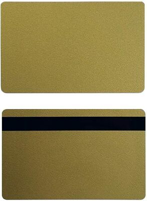 Gold Pvc 3 Track Hico Mag Cards Cr80 .30 Mil Magnetic Stripe - Pack Of 50