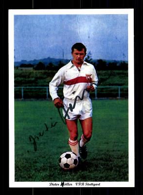 Dieter Höller Autogrammkarte VFB Stuttgart Spieler 60er Jahre Original Signiert