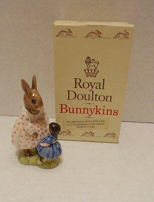 "VINTAGE 1972 ROYAL DOULTON BEATRIX POTTER DOLLIE BUNNYKINS ""PLAYTIME"" ENGLAND"