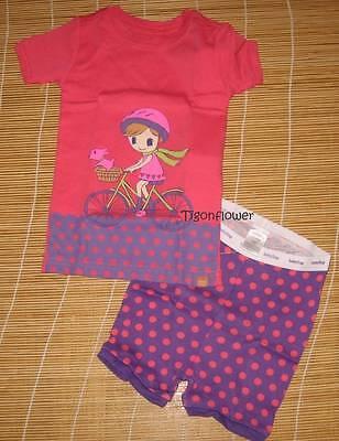 Baby Gap Short Pajamas Girl Bike Ride Bicycle Polka Dot 2 Years for sale  Shipping to India