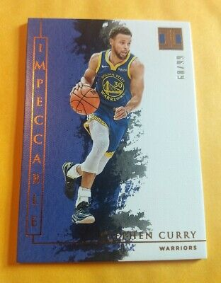 2019-20 Impeccable Stephen Curry 68/99 Warriors