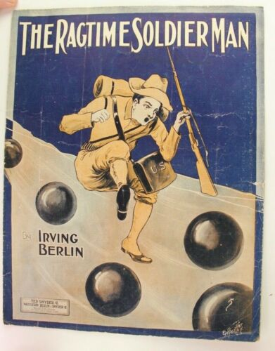 1912 The Ragtime Soldier Man WWI Sheet Music Irving Berlin