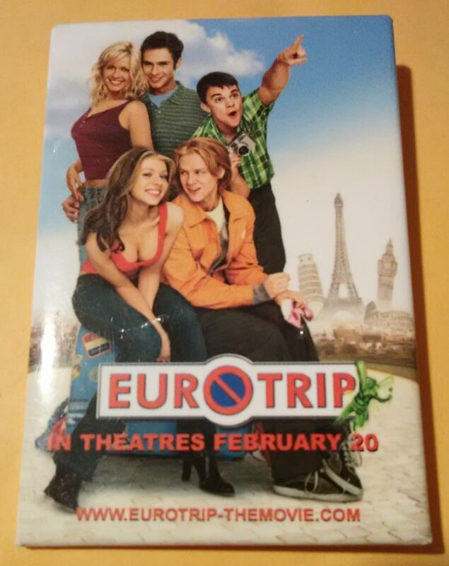 2004 EUROTRIP MOVIE ADVERTISING BUTTON GREAT FOR ANY COLLECTION 2004!