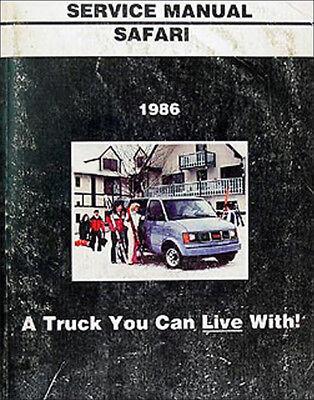 1986 GMC Safari Van Shop Manual 86 Original Repair Service Book OEM 1986 86 Gmc Safari Van