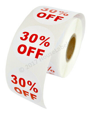 45 Rolls Of 30 Off Discount Labels 500 Labelsroll 2.5 Diameter Bpa Free