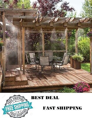 Outdoor Misting System Patio Mist Cooling Mister Kit Air Cooler Pool Deck 20ft