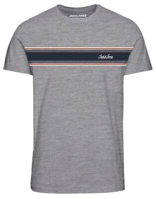 Jack & Jones Originals Range Traffic T-Shirt In Grey 5XL 6XL 7XL 8XL