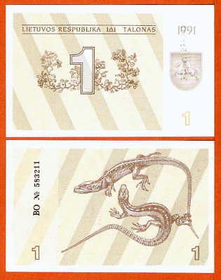 P32a   Litauen / Lithunia  1  Talonas  1991  UNC