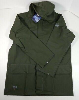 Helly Hansen Workwear Men's Mandal Rain Jacket Army Green Small FREE SHIP