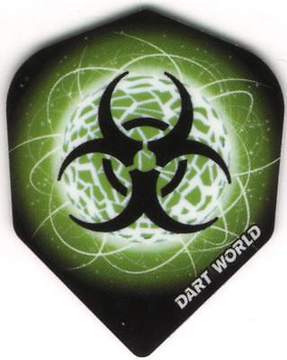 Nuclear Biohazard Dart Flights  3 Per Set