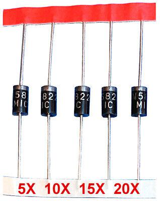 1n5822 Diodes 5pcs - 20pcs 40v 3a Schottky Diode Us Seller Us Shipper
