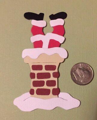 1 Christmas Santa in Chimney PAPER Die Cuts](Santa Chimney)