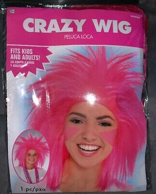 PINK CRAZY WIG for ADULTS or KIDS ~ Birthday Halloween Party Supplies Costume](Crazy Costumes For Halloween)