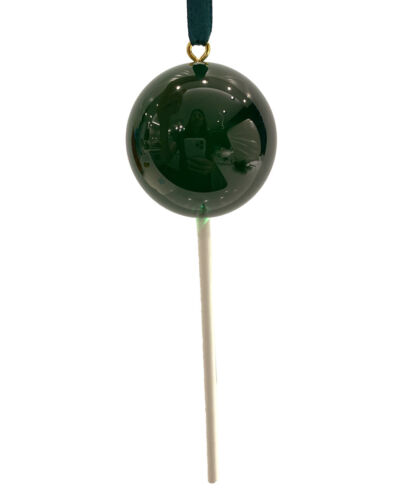 CLEAR Dark Green Candy Lollipop Christmas Ornament Pick Prop Easter