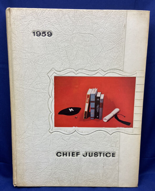 """1959 Marshall College University """"Chief Justice"""" Yearbook Annual Huntington WV"""