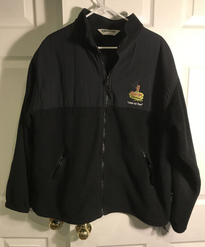 Nickelodeon Scooby-Doo Stage Fright Live on Stage 2001 Tour Crew Fleece XL