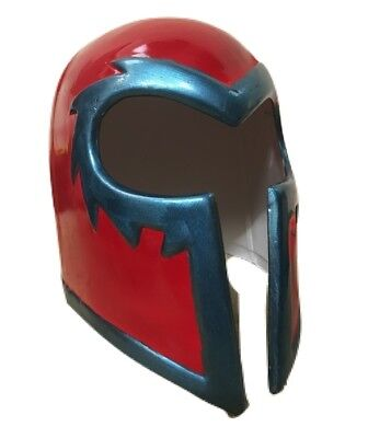 UK MAGNETO RED HELMET ADULT KIDS MASK HALLOWEEN FANCY DRESS UP COSTUME COSPLAY .