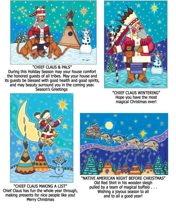 NEW! Native American Indian Christmas Cards-Cherokee Artist Jesse Hummingbird