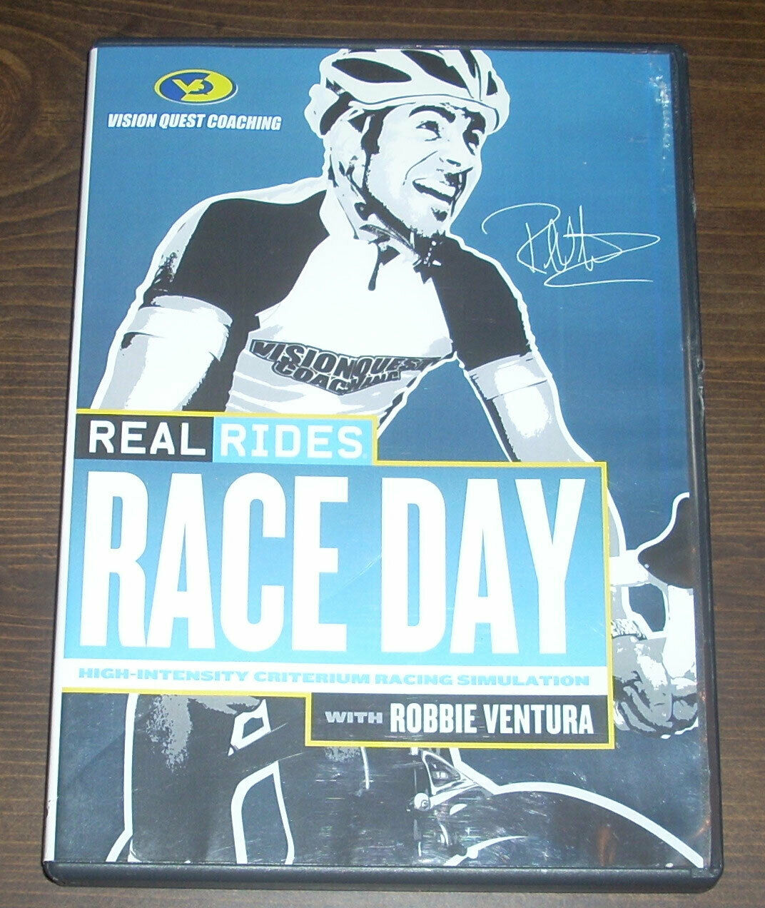 DVD Real Rides Race Day With Robbie Ventura Bicycle Training For Bike Racing  (Like New - 6.5 USD)